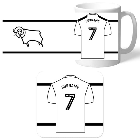 Derby County Shirt Mug & Coaster Set