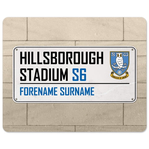 Sheffield Wednesday FC Street Sign Mouse Mat