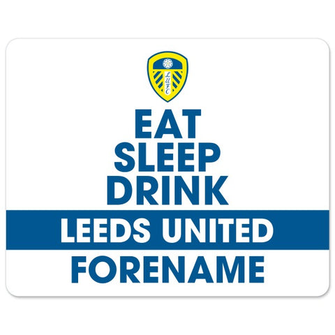 Leeds United FC Eat Sleep Drink Mouse Mat