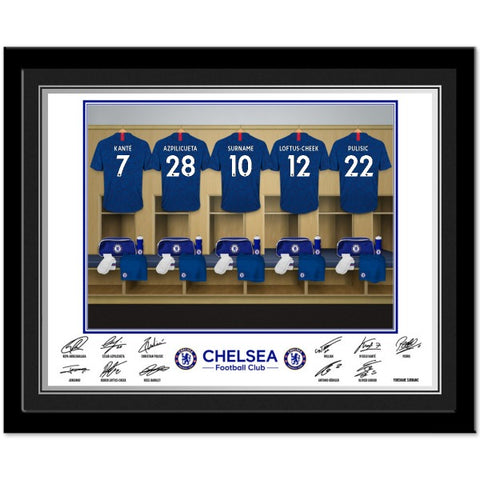 Chelsea FC Dressing Room Photo Framed