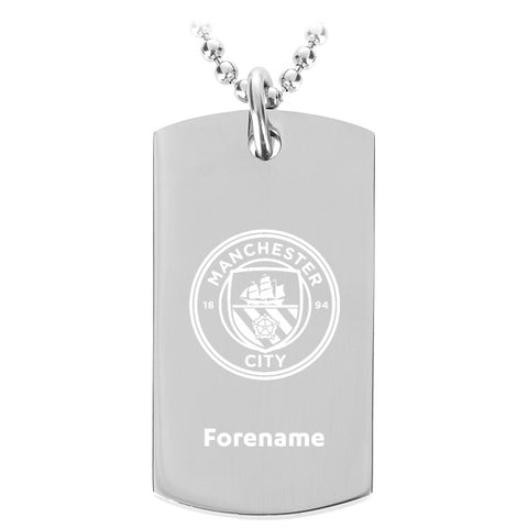 Manchester City FC Crest Dog Tag Pendant