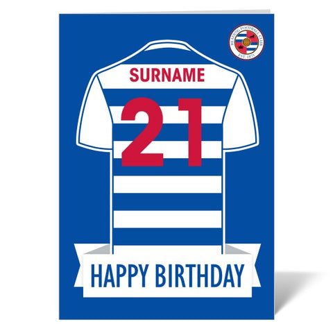Reading FC Shirt Birthday Card