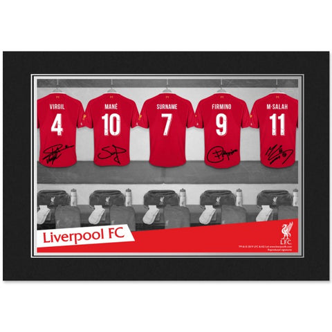 Liverpool FC 9x6 Dressing Room Photo Folder