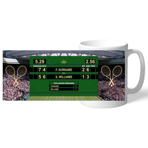 Personalised Female Tennis Mug