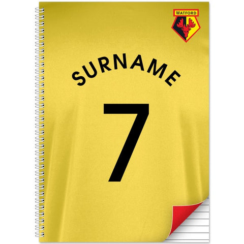 Watford FC Shirt Notebook
