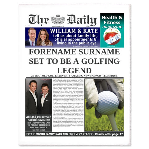 The Daily Golf Legend News Single Page Print - Female