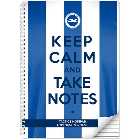 Brighton & Hove Albion FC Keep Calm Notebook