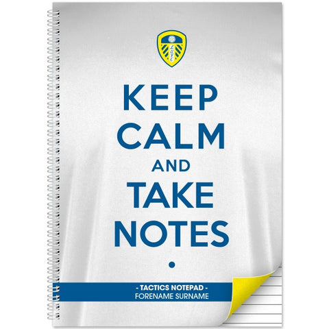 Leeds United FC Keep Calm Notebook
