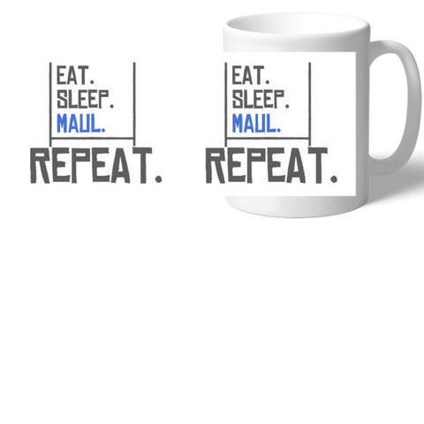 Rugby Eat Sleep Maul Mug