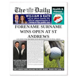 The Daily Golf News Single Page Pritn - Female