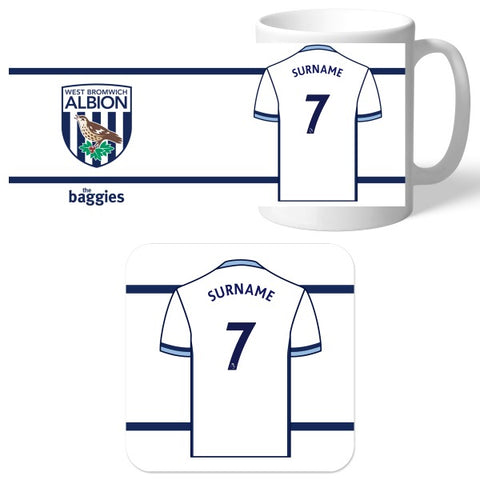 West Bromwich Albion FC Shirt Mug & Coaster Set