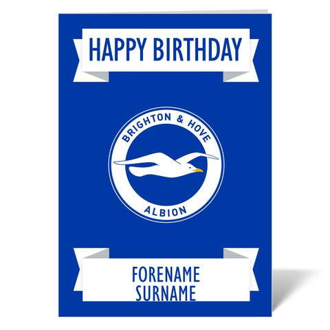 Brighton & Hove Albion FC Crest Birthday Card