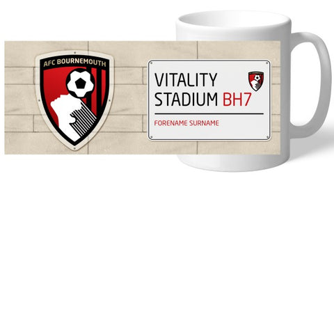 AFC Bournemouth Street Sign Mug