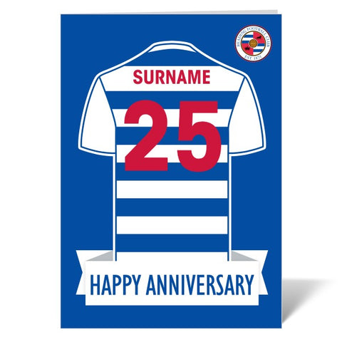 Reading FC Shirt Anniversary Card