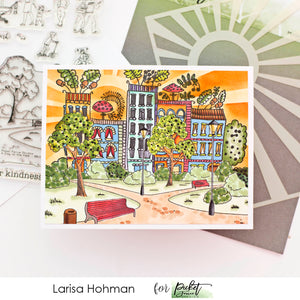 Bright and Colorful Scene Cards with Larisa