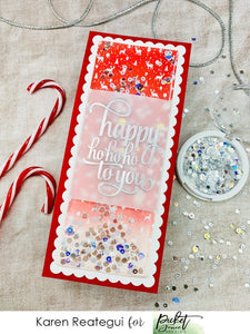 Christmas Shaker Card with Karen Reategui