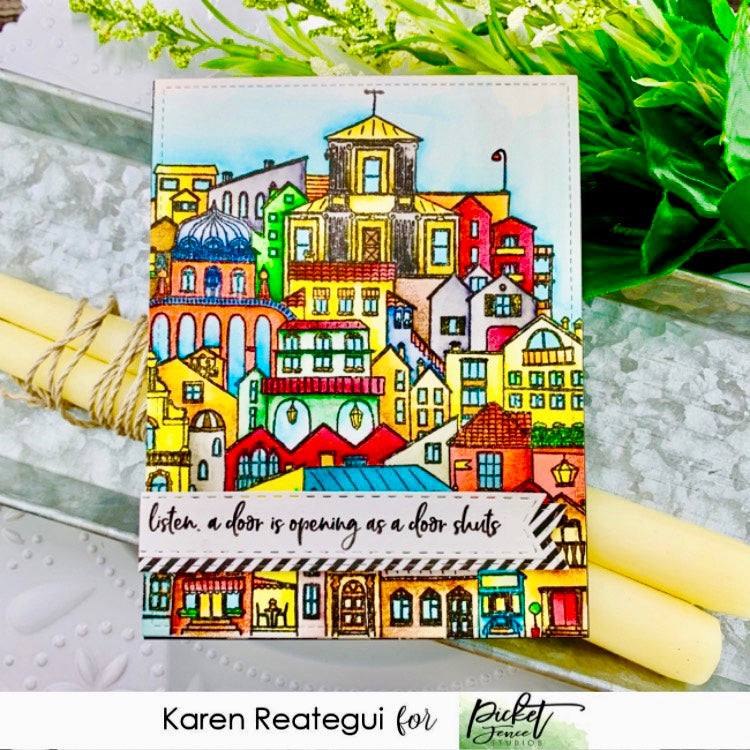 A City In The World Stamp with Karen Reategui