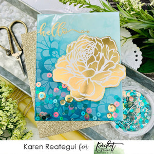 Hello Shaker Card with Karen Reategui