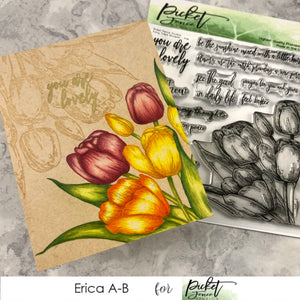 Early Tulip Bouquet Cards Two Ways with Erica