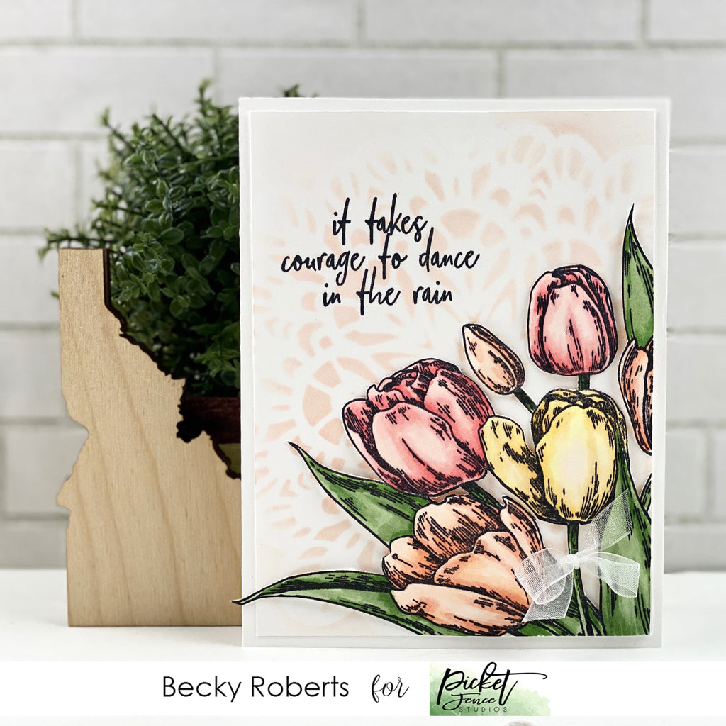 Early Tulip Bouquet Card