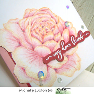 No-line colouring rose from Michelle
