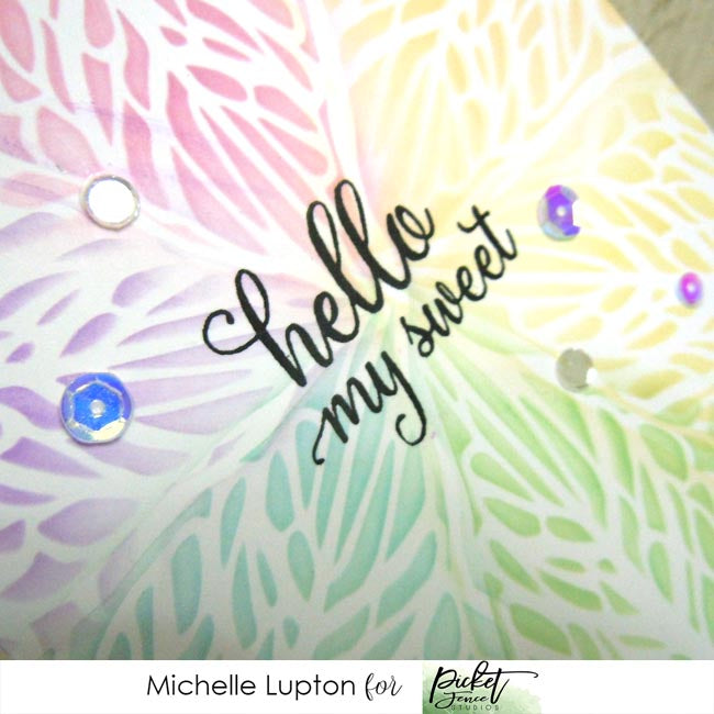 Rainbow leaf card with Michelle Lupton