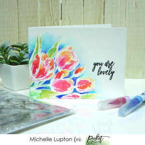 Watercolour Tulips with Michelle