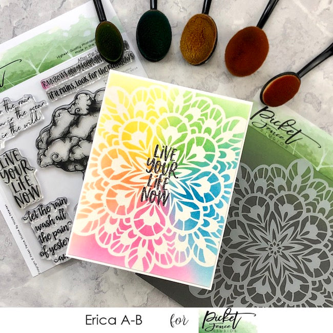 Fancy Kaleidoscope Stencil Cards with Erica