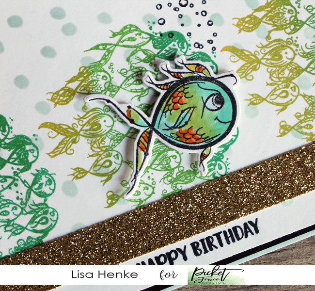 Birthday Fishes and a Touch of Glitter
