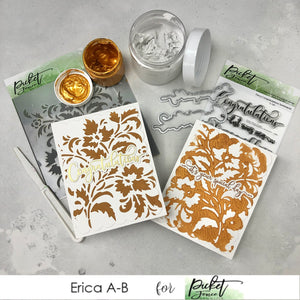Elegant cards with Paper Glaze Enhancer by Erica