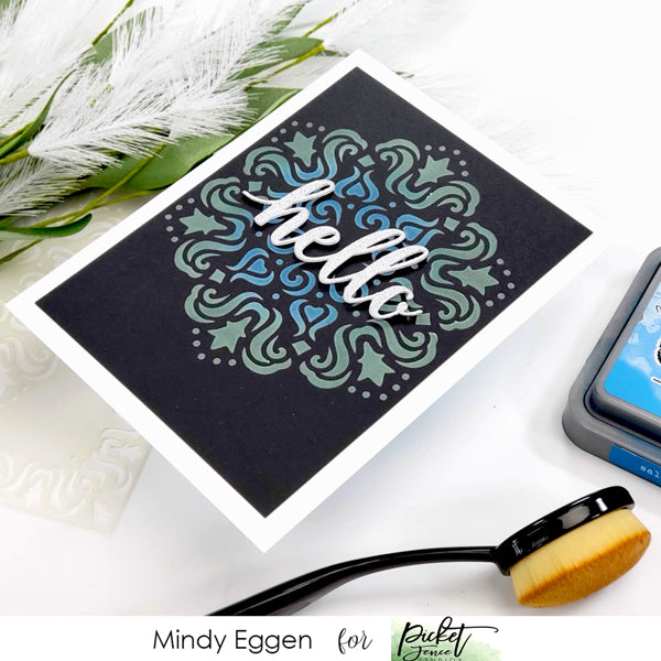 Ink Blending on Dark Card Stock with Mindy Eggen