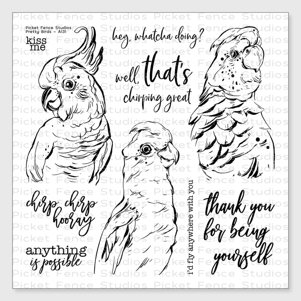 Pretty Birds Stamp Set with Coordinating Die