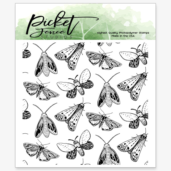 Moths 4x4 Seamless Stamp