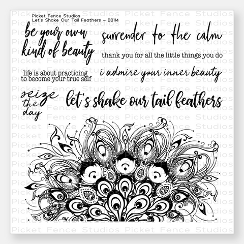 Let's Shake Our Tail Feathers Stamp Set