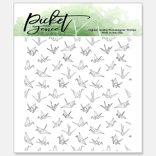 Paper Cranes 4x4 Seamless Stamp