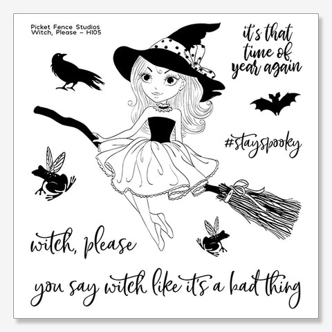 Witch, Please Stamp Set