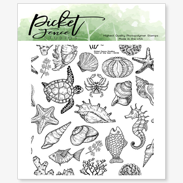 View of the Sea 4x4 Seamless Stamp