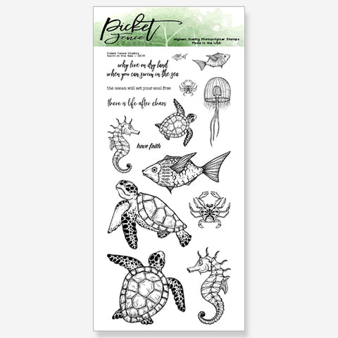 Swim in the Sea Stamp Set