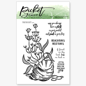 Whelk Shell Scene Stamp Set with FREE Coordinating Stamp