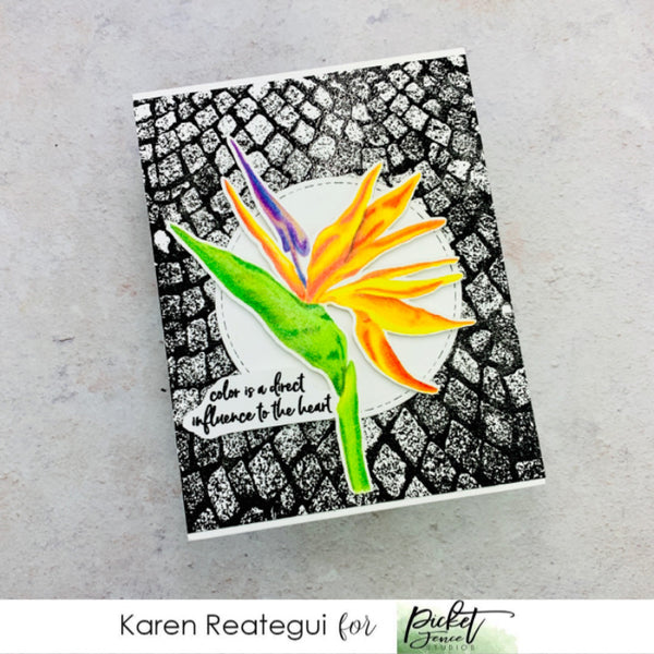 Bird of Paradise Flowers Stamp Set