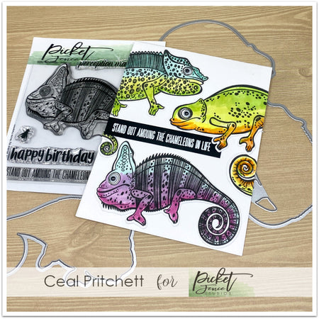 Charles the Chameleon Stamp Set with Coordinating Die