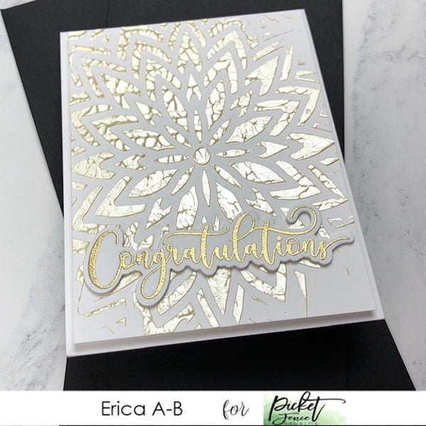 Fancy Congratulations Sentiments Coordinating Dies