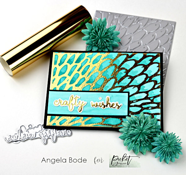 Feathers Cover Plate Foiled Impressions