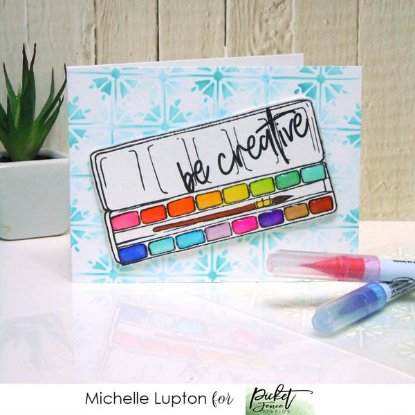 I Work For Watercolor Stamp Set