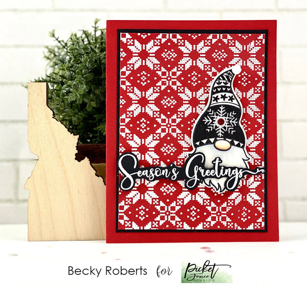 A Gnome Winter Stamp Set