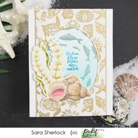 Wentletrap Shell Scene Stamp Set with Coordinating Die