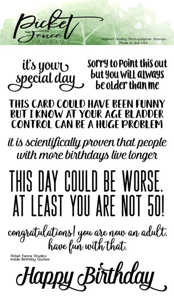 Inside Quotes: Birthday