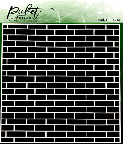 English Brick Wall 6x6 Stencil