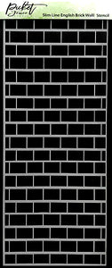 Slim Line English Brick Wall Stencil