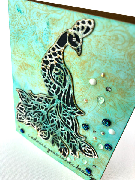 Peacock Beauty Cover Plate Die